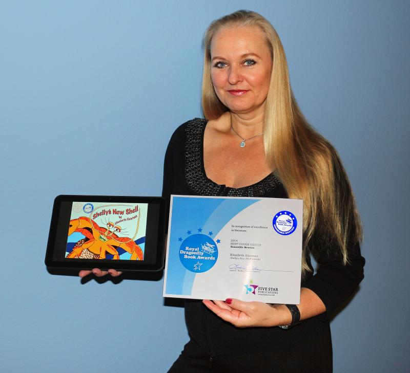 Elisabeth Ekornes with her Royal Dragonfly Award